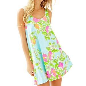 Lilly Carmel Pool Blue Pink Lemonade Dress